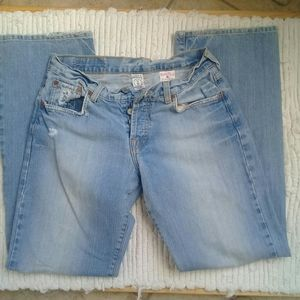 Lucky Brand Easy Rider distressed Sz 6/280